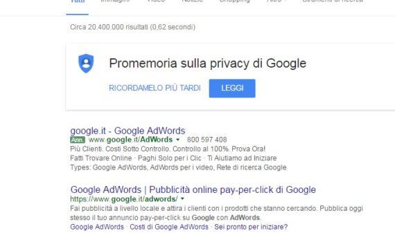Google AdWords nuovi annunci verdi