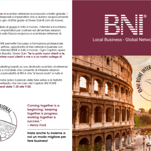 BNI International Referral Marketing Event in Rome