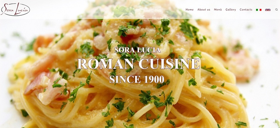 roman cuisine restaurant SORA LUCIA