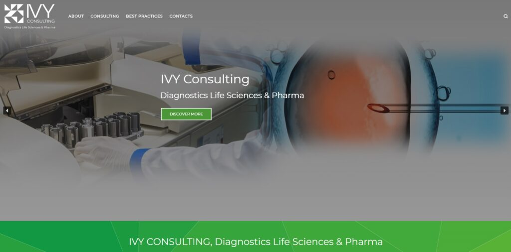 IVY Diagnostics Consulting: website creation & positioning