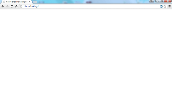 Pagina bianca sito wordpress