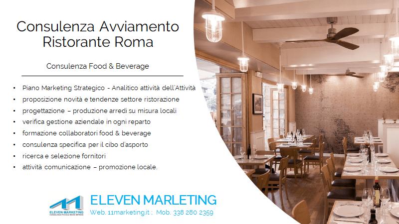consulenza avviamento ristorante Roma