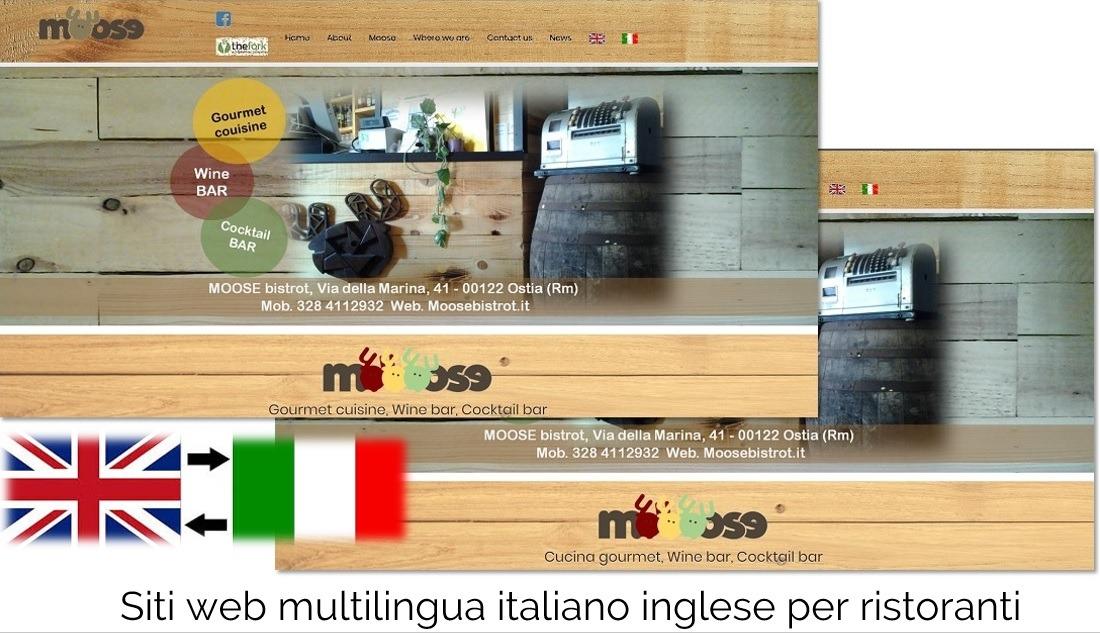 siti web multilingua ristoranti