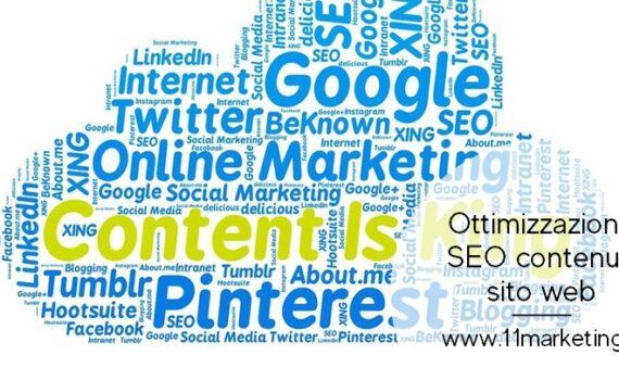 ottimizzazione SEO contenuti sito web
