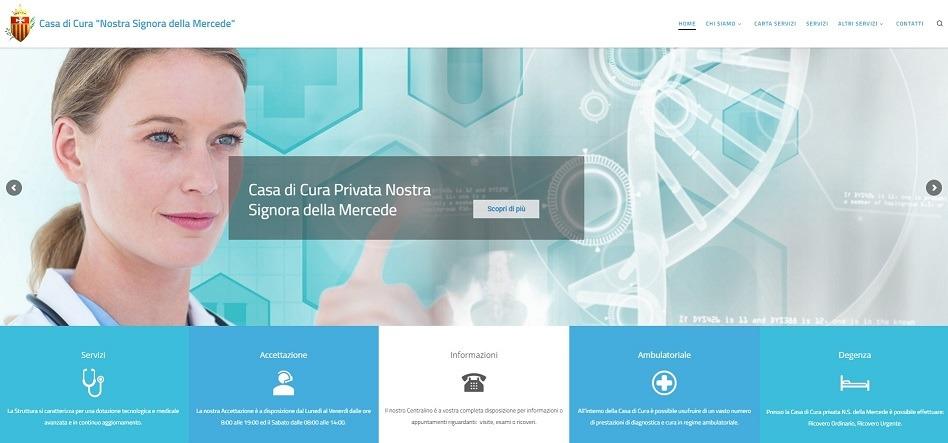 realizzazione siti web cliniche e case di cura Roma