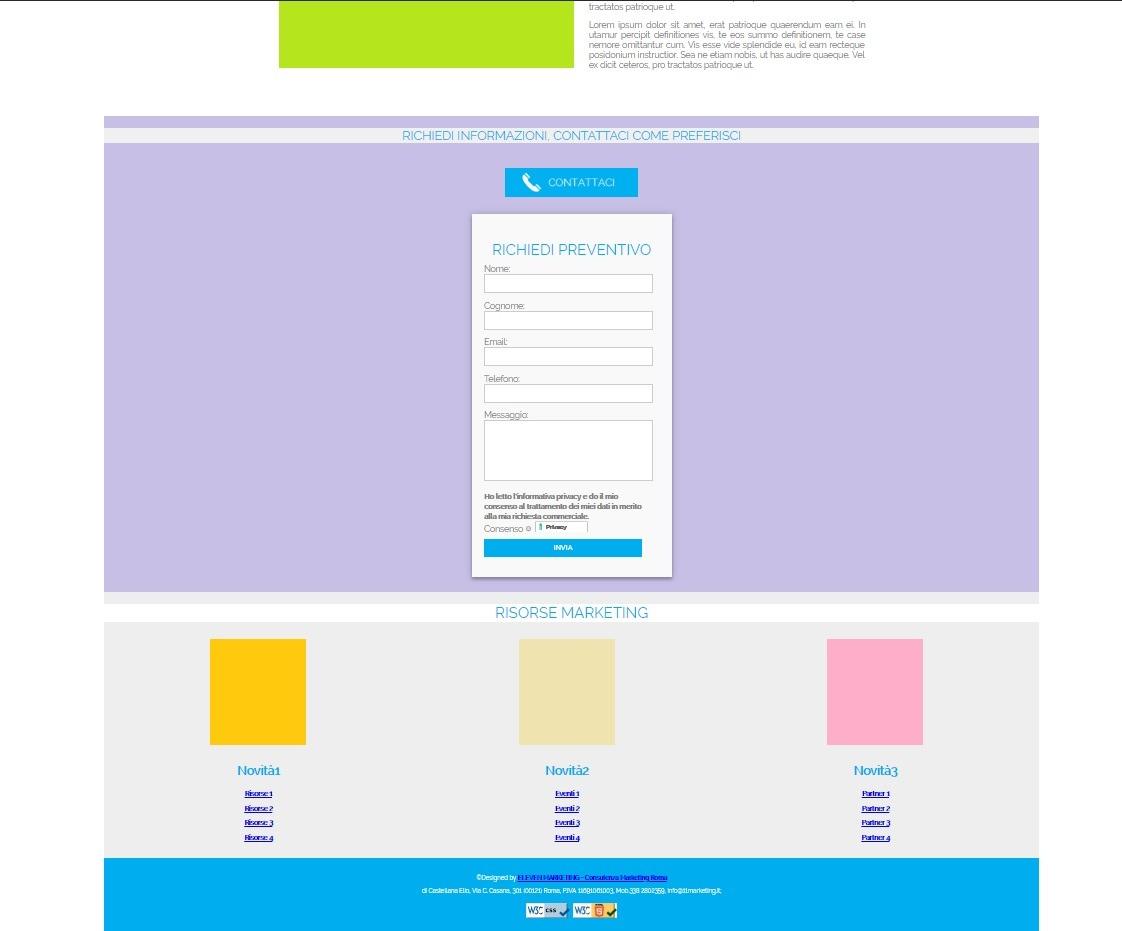 esempi Siti HTML5 responsive