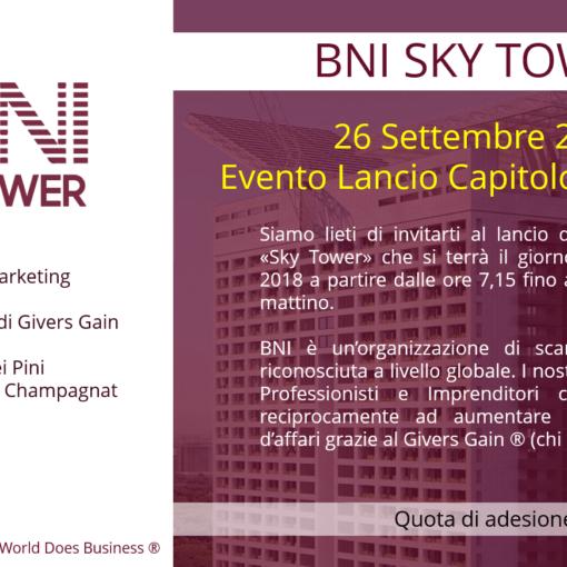 Acquisire nuovi clienti con il Referral Marketing: Evento BNI Sky Tower