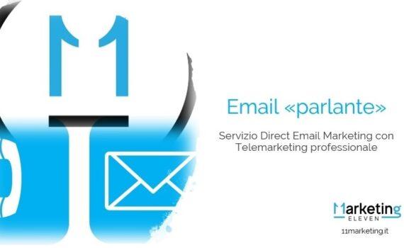 Servizio invio email con telefonata, email parlante