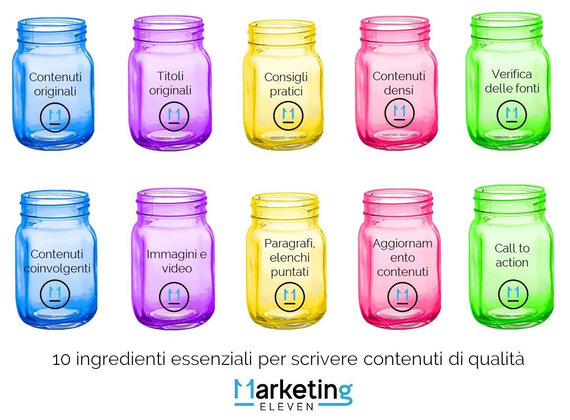 10 ingredienti essenziali per scrivere contenuti di qualità
