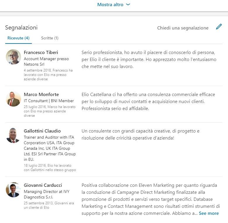 ottimizzazione SEO profilo linkedin