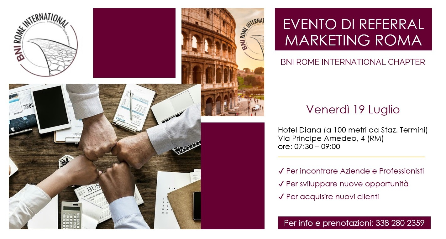 eventi di referral marketing Roma