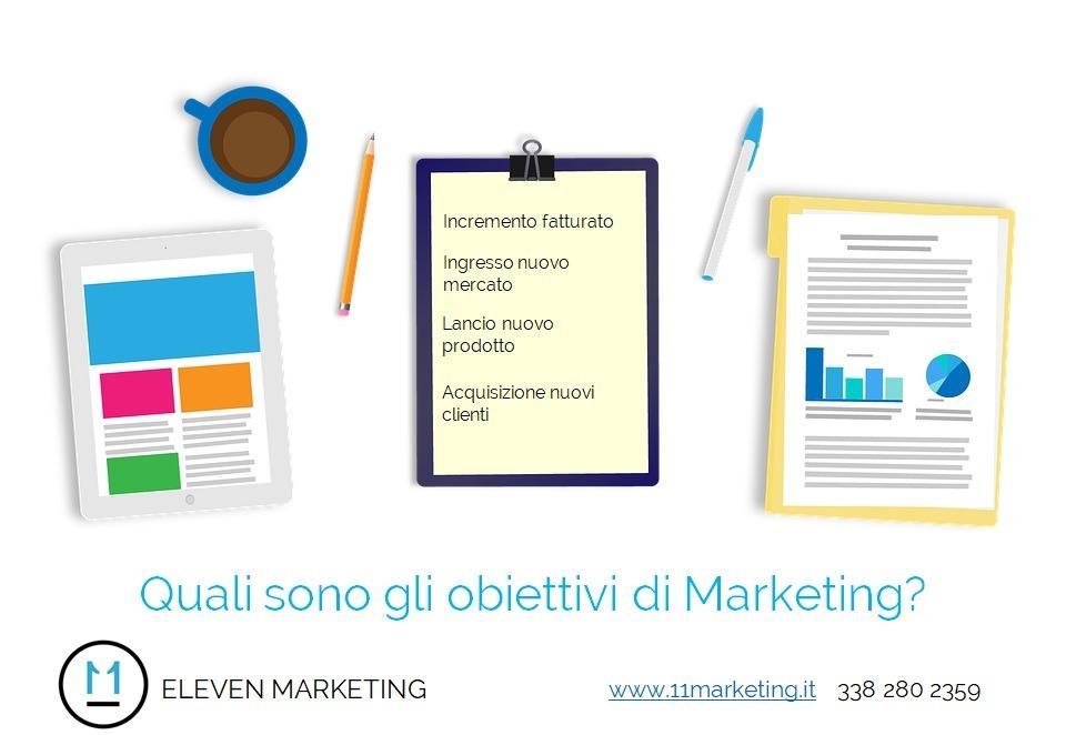 quali sono gli obiettivi di Marketing?