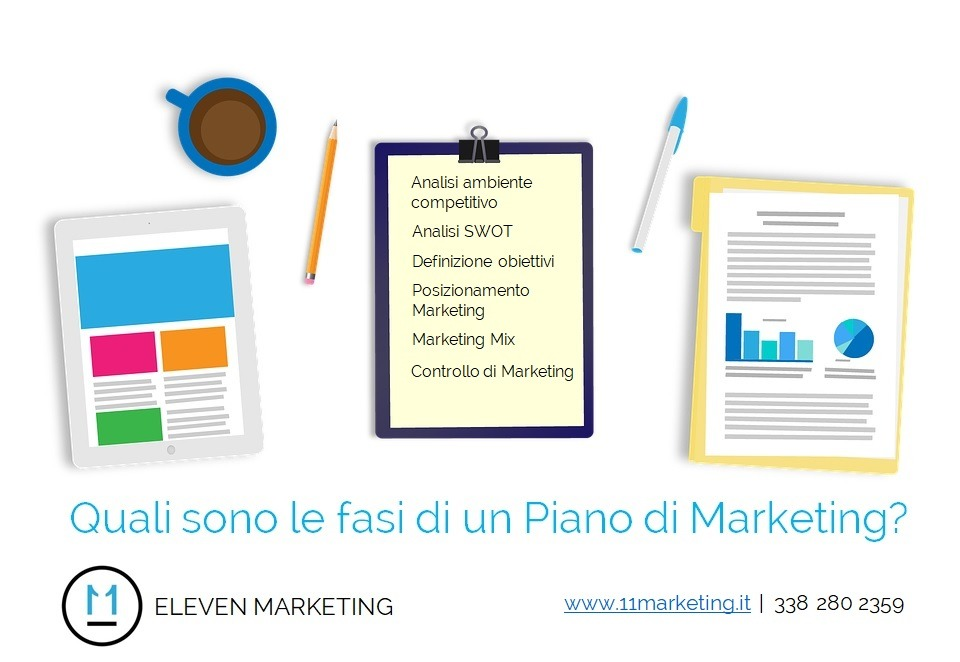 Quali dsono le fasi di un Piano di Marketing?