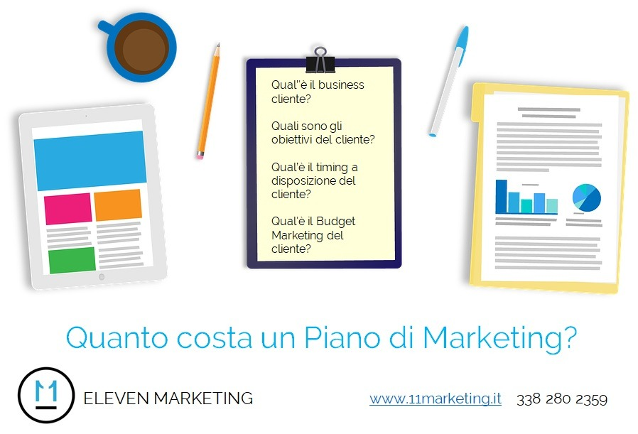Quanto costa un Piano di Marketing?