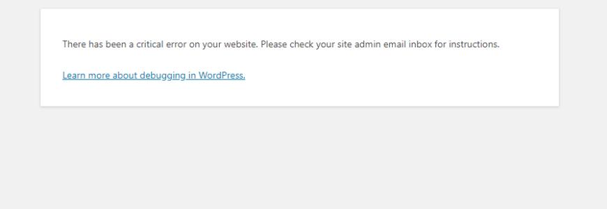 Wordpress versione 5.2 il tuo sito ha problemi tecnici