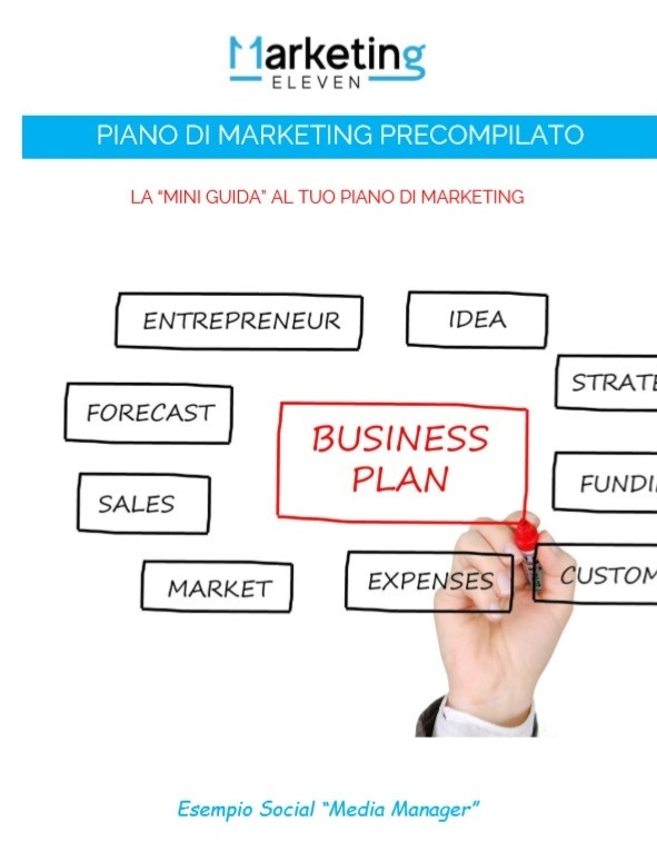 Piano Marketing da compilare, mini guida al piano di Marketing PDF