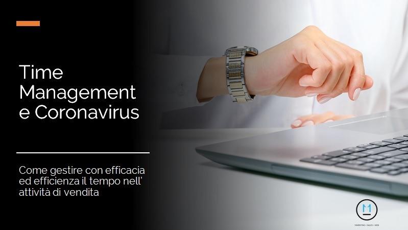Time Management durante il Coronavirus