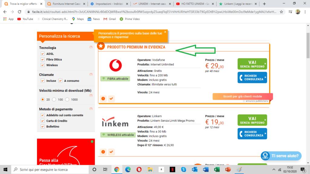 Digital Strategy esempio e price comparison