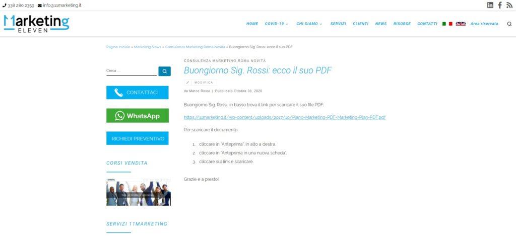 Come creare un'area clienti attivi WordPress, articolo dedicato
