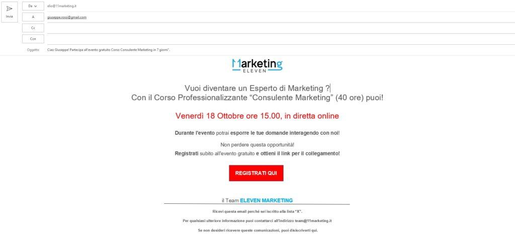 Come scrivere una mail di vendita, esempio email 2