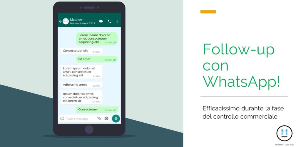 Follow-up con WhatsApp