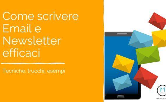 come scrivere email e newsletter efficaci, esempi, tecniche e trucchi