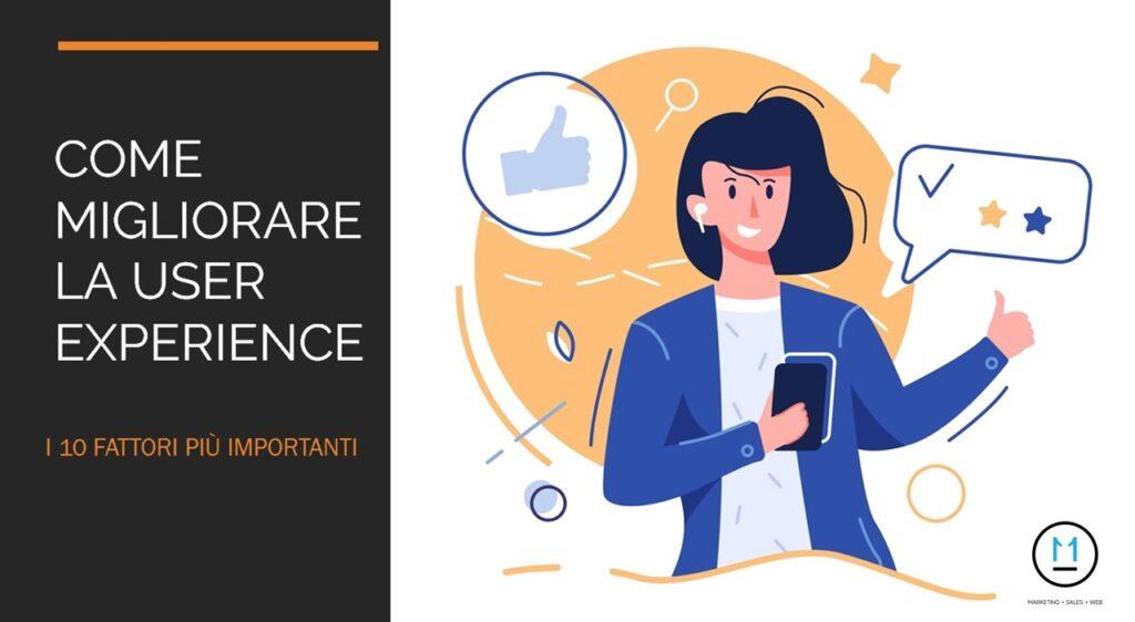 User Experience come migliorarla: i 10 fattori determinanti