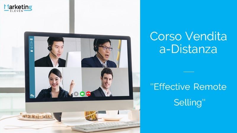 """Corso Vendita a-Distanza - """"Effective Remote Selling"""""""
