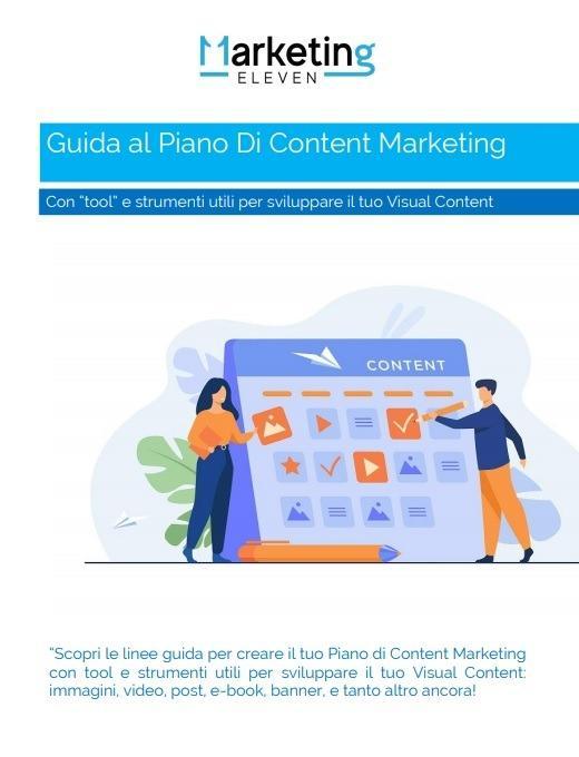 Guida Piano Content Marketing PDF, con tool di Visual Content