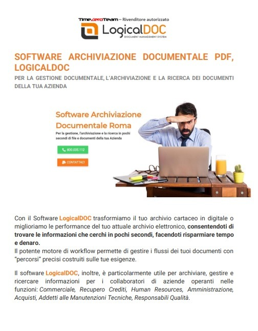 Software Archiviazione Documentale PDF, Archiviazione Documentale come funziona